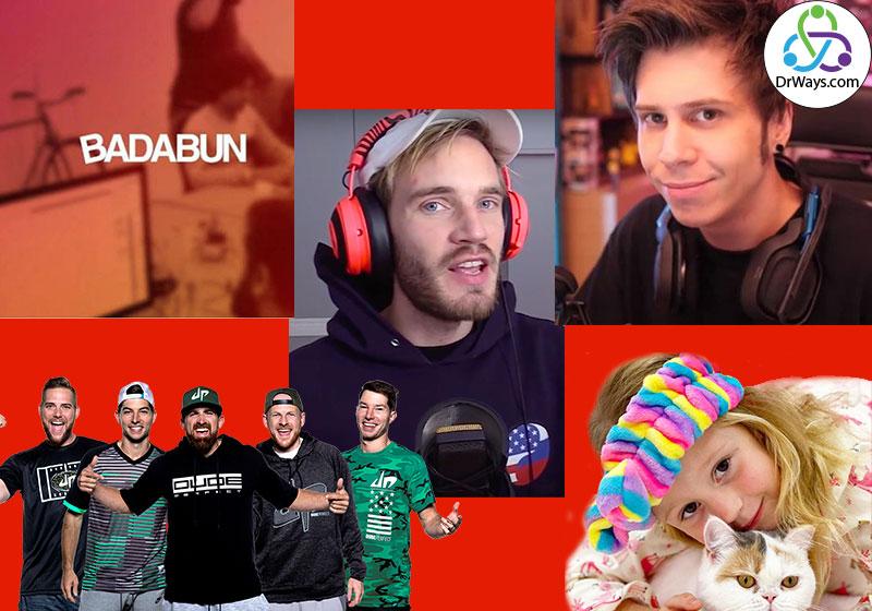 برترین یوتیوبرهای جهان